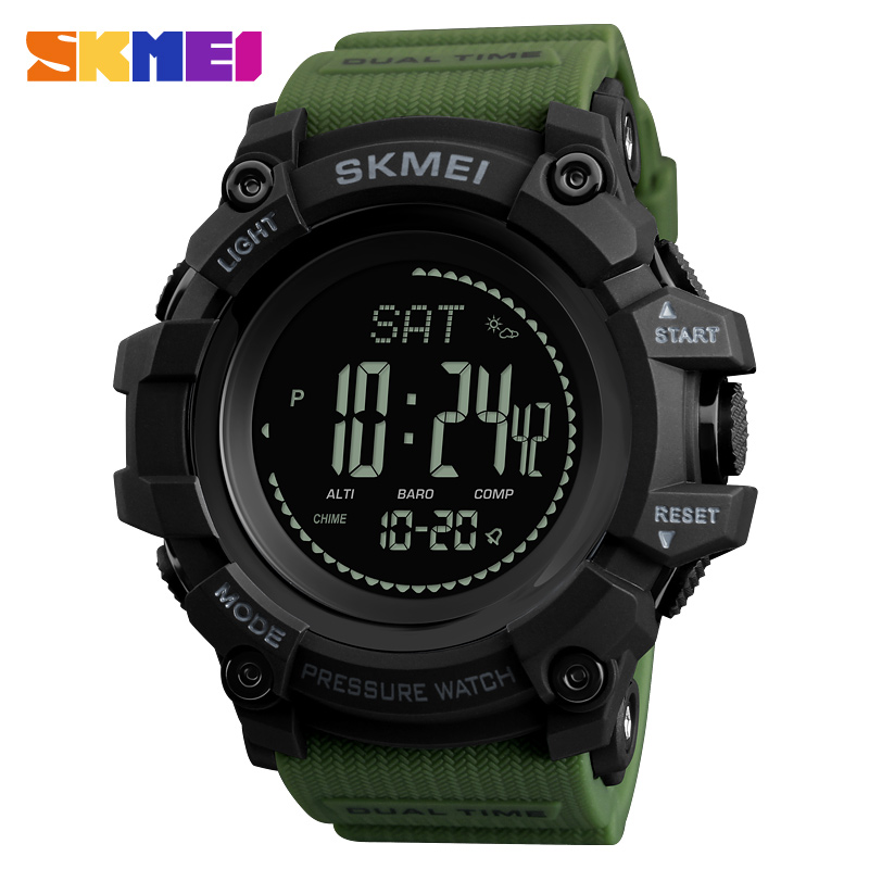 New Men Sports Watches <font><b>SKMEI</b></font> Brand Pressure Compass Watch Alarm Chrono Digital Wristwatches 30M Waterproof Relogio Masculino image