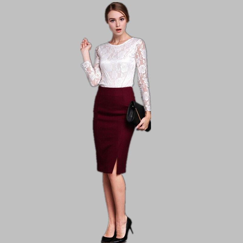 Popular Burgundy Pencil Skirt-Buy Cheap Burgundy Pencil Skirt lots ...