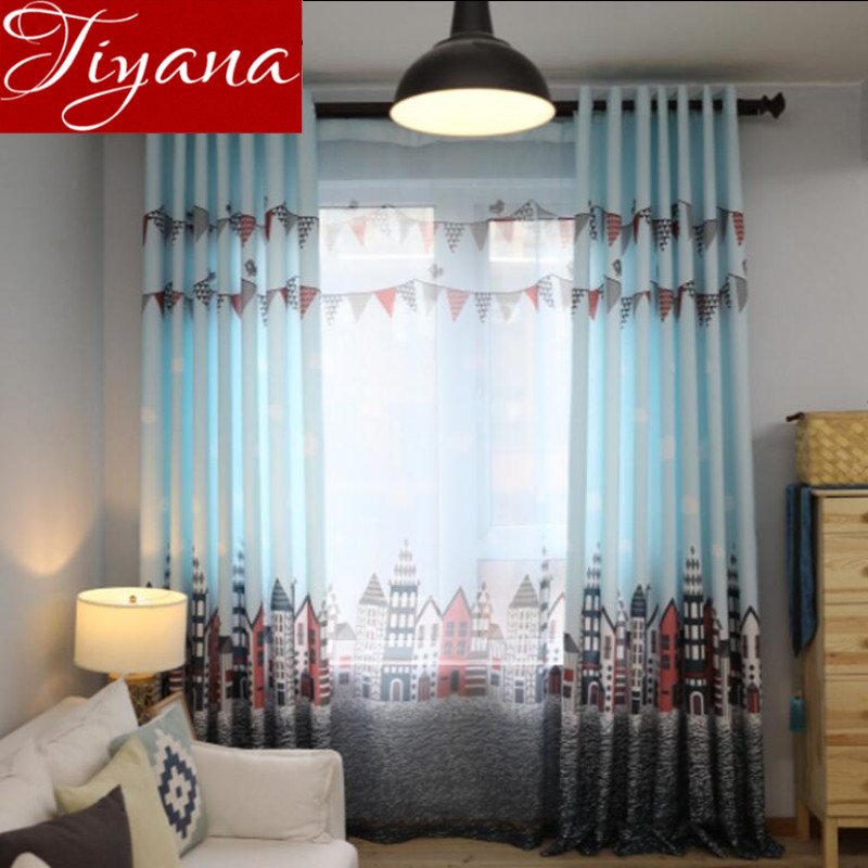 Window Curtains For Kids Boys Room National Flag Castle Cartoon Voile Curtains  Modern Living Room TullePopular Living Room Curtains Drapes Buy Cheap Living Room Curtains  . Modern Living Room Curtains Drapes. Home Design Ideas