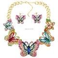 Ms18068 moda marca conjunto de jóias borboleta colar brinco Set Red colar de alta qualidade nupcial jóias presentes da festa