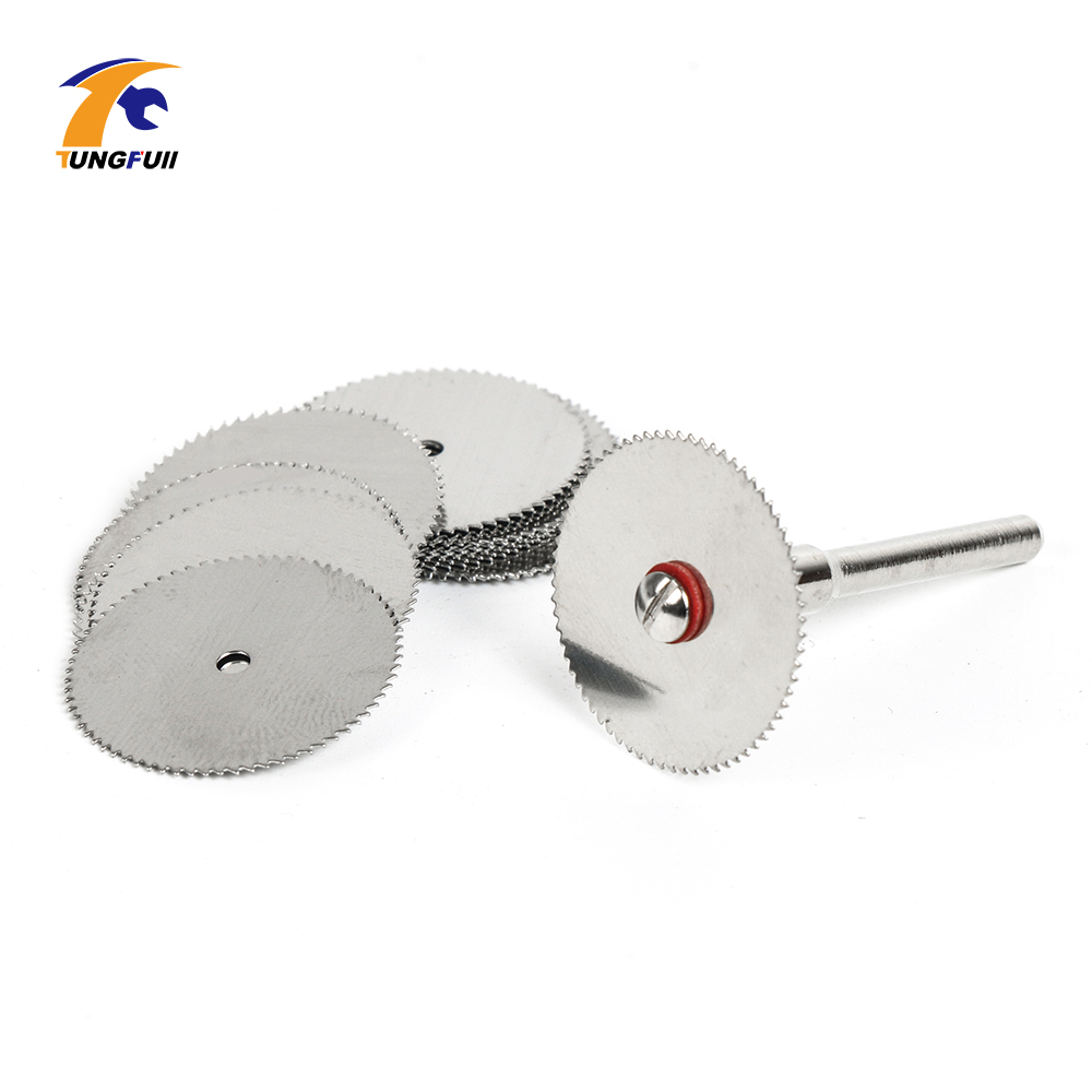 Image 5 - Drop Shipping Tool Set 20pcs/lot 22mm Circular HSS Saw Blades Wood Cutter Dremel Accessory For Rotary Tools Woodworking-in Abrasive Tools from Tools