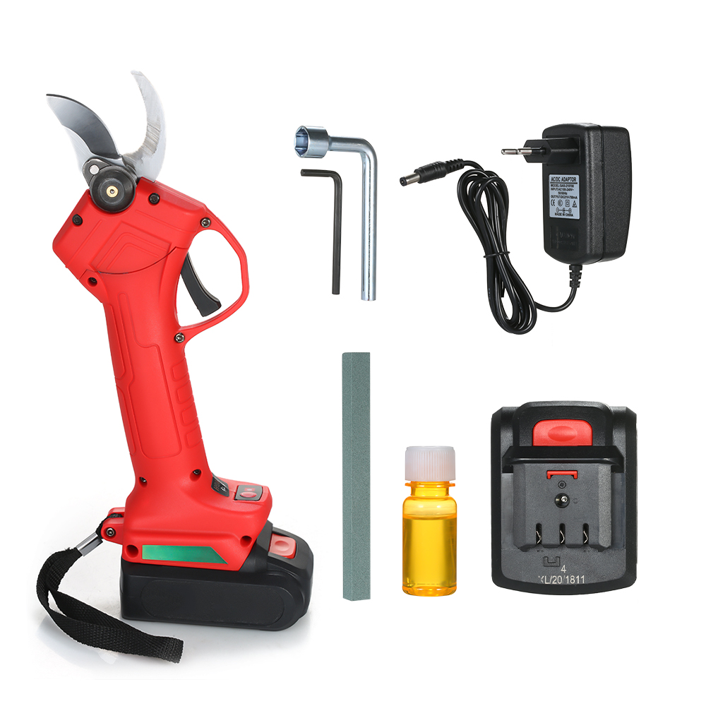 Electric Garden Pruner Tool Cordless Electric Rechargeable Lithium Pruning Shears Branch Cutter Grafting Tool Garden Scissors in Pruning Tools from Tools
