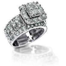 Новый 2.2 КТ Потрясающие циркония Твердые стерлингового серебра 925 Halo обручальное кольцо Элегантные украшения для женщин Бесплатная доставка