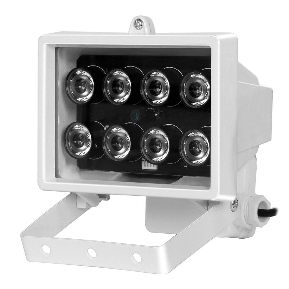 imágenes para CCTV 8 UNIDS IR LED IR iluminador infrarrojo lámpara Al Aire Libre Impermeable de Visión Nocturna de Metal para la Cámara de CCTV cámara de Seguridad