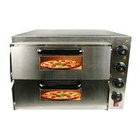 Двойной слой электрическая печь для пиццы для коммерческого или домашнего использования для изготовления различных вкусная еда как яичный