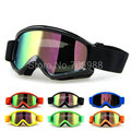 Cool Motorcycle Motocross Bike Cross Country Flexible Goggles BLACK Tinted UV color lens