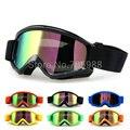 Enfriar La Motocicleta Motocross Bike Cross Country Flexible Goggles Tinted UV lentes de color NEGRO