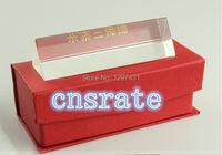 3x3x15 센치메터 광학 트리플 삼각형 프리즘 스펙트럼 과학 물리학 프리즘 교육 도구