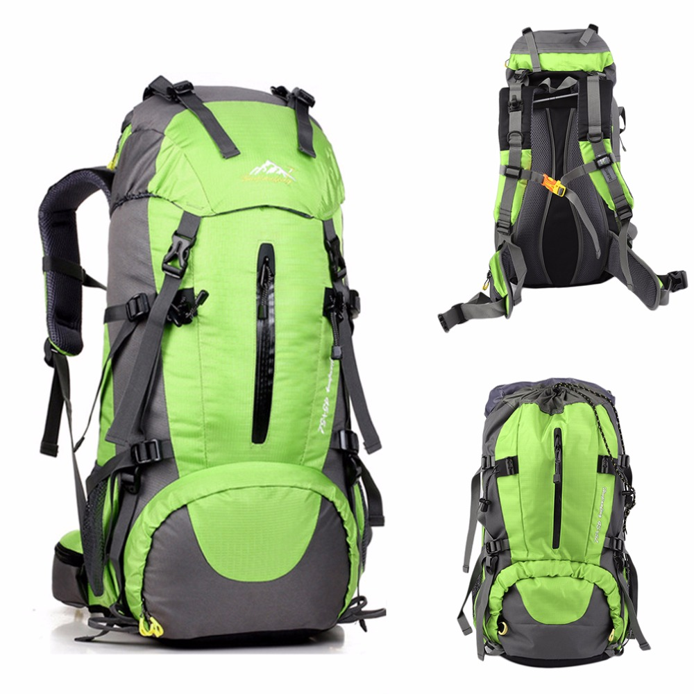 50L Pratical Waterproof Outdoor Hiking Backpack Camping Travel Bags Climbing Backpack Knapsack with Rain Cover locallion brand 40l outdoor sports backpack for hiking camping climbing fishing women men waterproof nylon big knapsack xa562yl