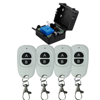 Smart Home DC12V Single Channel Rf Wireless Remote Control Switch 315mhz 433mhz Learning Code 433Mhz In
