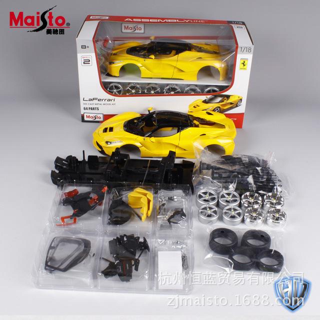 Maisto 1:18 modelos de carros esportivos para laferrari carmetal race car diecast modelos crianças brinquedos para crianças