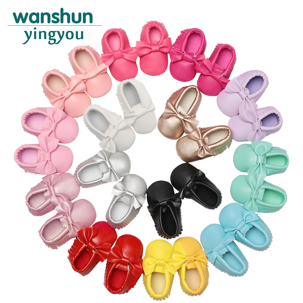 42aaad997abba Bebes 14 Colors Tassels Baby Moccasin Newborn Babies Shoes Soft Bottom PU  Leather Prewalkers Boots