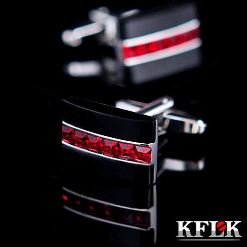 Red Crystal cufflinks