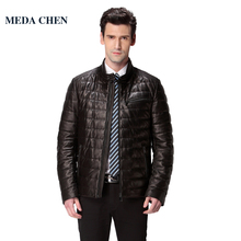 New Hot leather-based jacket,Genuine Leather,Sheepskin,Mandarin Collar,Thin,motorbike man coat,Leather jacket males,biker jacket