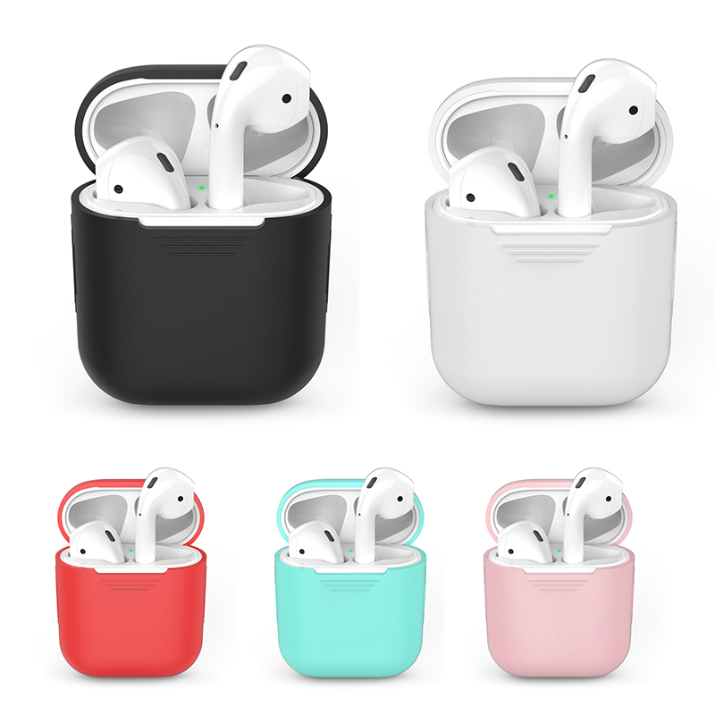 Soft Silicone Case For Airpods Ultra Thin Shockproof Earphone Protective Cover Waterproof For Apple Air Pods Headset Accessories