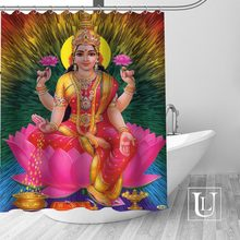 Big Sale New Custom Indian gods Shower Curtain with Hooks bathroom Waterproof Polyester Fabric(China)