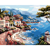 Painting By Numbers Frameless Hand Painted Modular Picture Diy Digital Oil Painting Coastal Scenery The Paintings