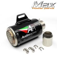 AR Austin Racing Sticker Exhaust Motorcycle CNC Carbon Fiber Muffler Pipe for Benelli 600 bn300 z800 cbr1000 z750