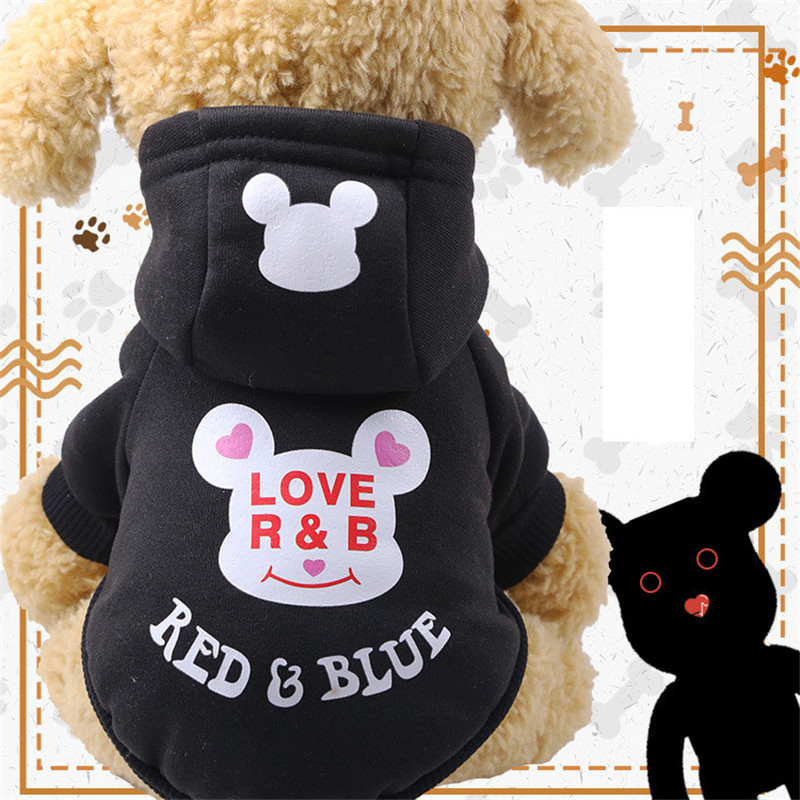 Autumn/winter Pet Clothes Cotton Sportswear Cute Cartoon Pattern Dog Costumes Clothes for Small and Medium Dog Pets Supplies