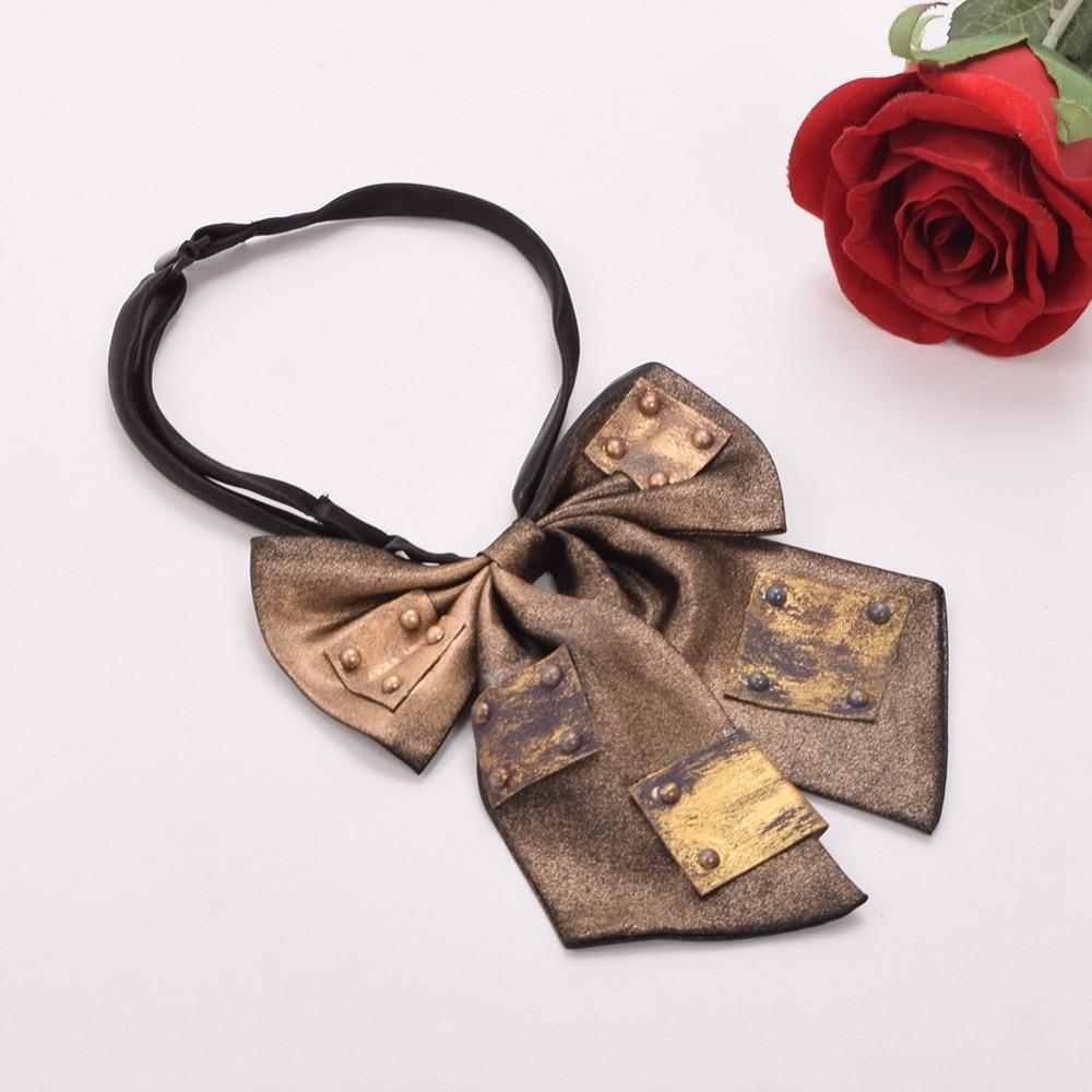 Unisex Vintage Steampunk Bowtie Industrial Victorian Neck Tie Bowknot Costume Accessory