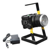New Arrival Rotating Zoom T6LED Floodlight Portable Lamp Outdoor Lighting Flashlight Rechargeable Projection Lamp With Holder(China)