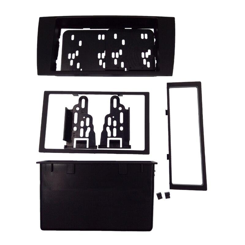 2DIN DVD autoradio Fascia pour JAGUAR X type S type 2003-2008 cadre stéréo panneau tableau de bord Kit de montage adaptateur garniture lunette Facia