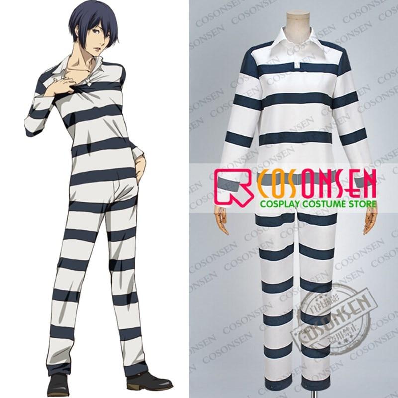 b0b38708300c COSPLAYONSEN Prison School Kiyoshi Fujino Takehito Morokuzu Shingo Wakamoto  Reiji Andou Prison Uniform Cosplay Costume All Size