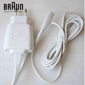 Image 1 - 12 V 0.4A EU US blanc adaptateur secteur chargeur cordon pour Braun rasoir véritable véritable origine IPX4 étanche tout neuf blanc