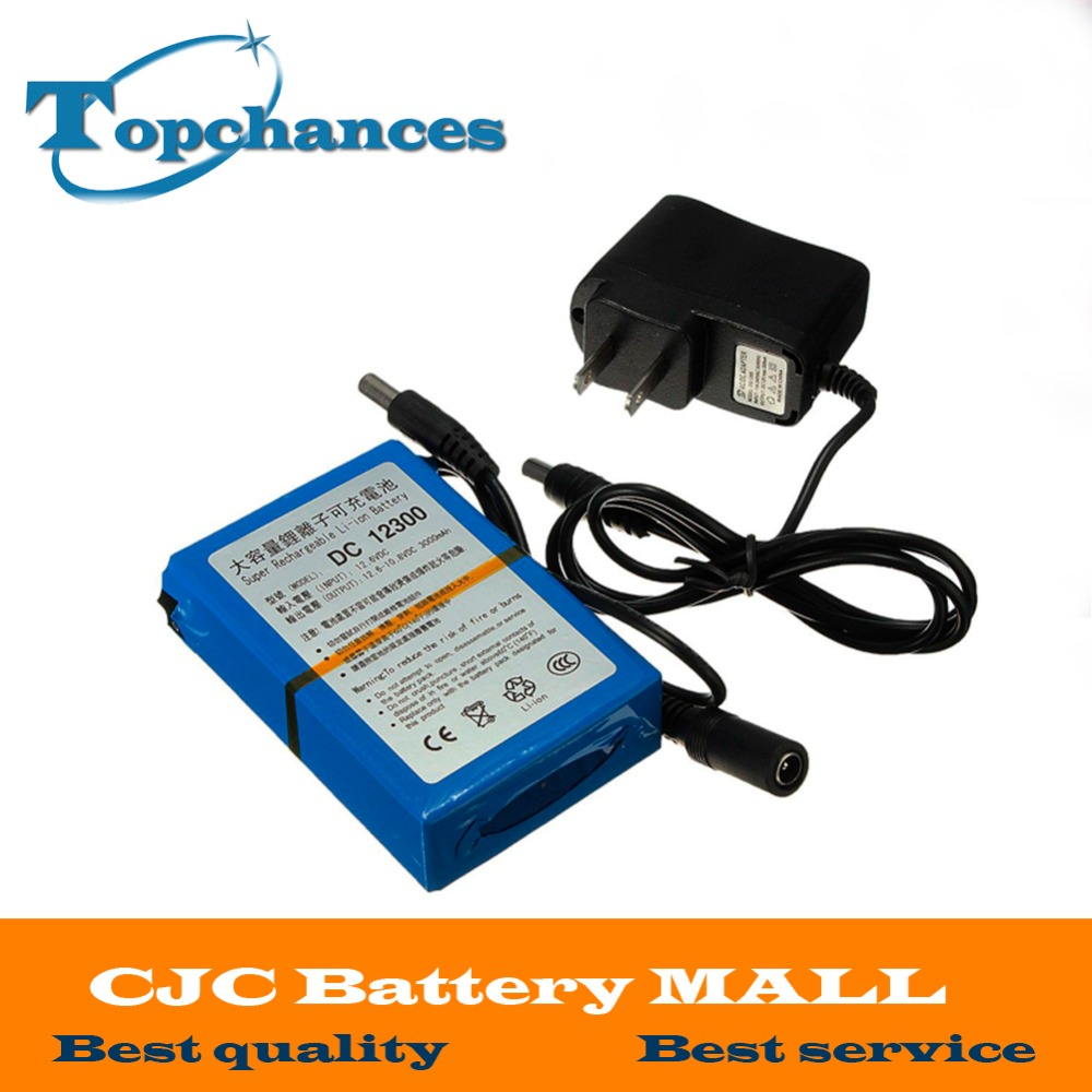 High Quality DC 12V 3000mAh Li-ion Super Rechargeable Battery Pack with Plug for CCTV Camera Batteries Baterias Bateria