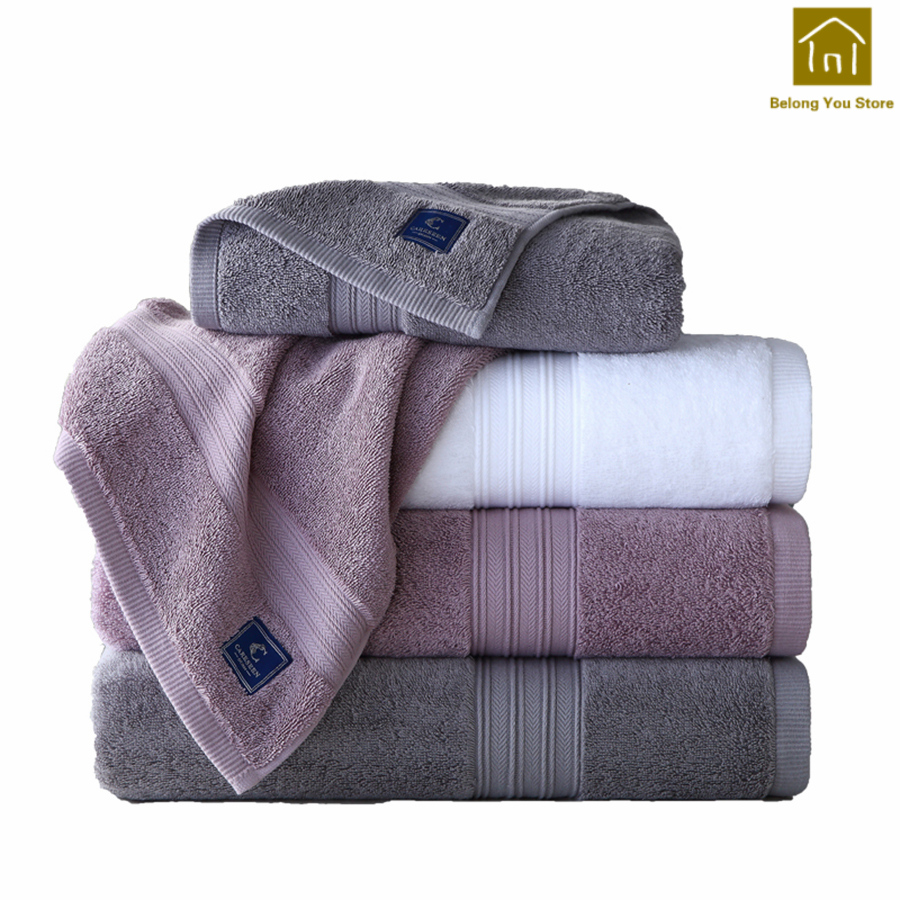 Grand bain serviette blanche épaisse coton doux adulte serviette de refroidissement Handdoeken serviettes de plage Toalla Playa cadeaux utiles pour la maison WKZ011