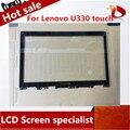 """100% testado antes shiping 13.3 """"tela sensível ao toque com digitador para lenovo u330 toque com frame"""