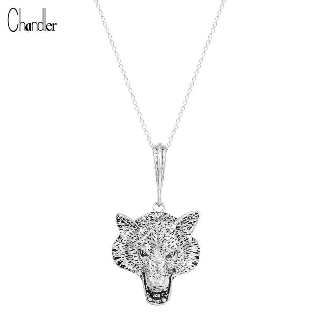 Online Shop Chandler Money Wolf Celtic Moon Viking Dog Necklace ...