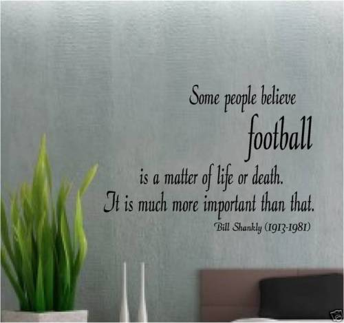 Fashion BILL SHANKLY LIVERPOOL WALL QUOTE ART FOOTBALL FREE SHIPPING