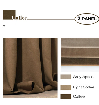 MOMO Room Darkening Curtains Matte Velvet Solid Fabric Back Tab Rod Pocket Window Drapes For Bedroom With Custom Size (2 Panels)