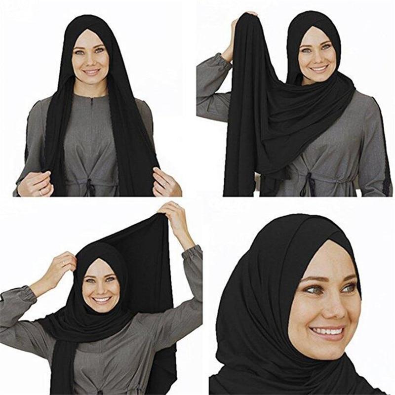 2019 Jersey Head Scarf Instant Hijab Ready To Wear Muslim Hijabs For Women Islamic Clothing Under Scarf Arab Headwear