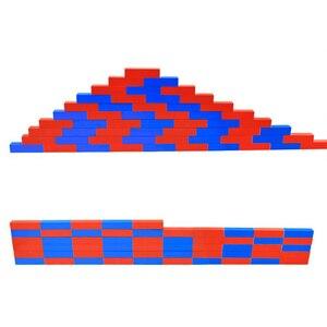 "Image 4 - ילדים צעצועי מונטסורי אדום מקלות ארוכים (5 50 ס""מ) מתמטיקה מוטות מספר עץ חינוך למידה מוקדמת ילד"