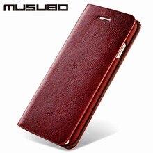 Musubo мода милые леди девушки мисс флип luxury case для iphone 7 плюс бумажник телефон мешок кожаный чехол для iphone 6 plus 6s 5 5S