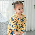 2017 Spring Section Of The Children's Full Printed Cotton Cactus Dress Long Sleeved Costume For Kids Christmas Dress