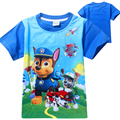 New 2017 Summer Children Cartoon Patrol Dog Clothing Boy Cotton O-Neck T Shirts Patrol Clothes Kids Short Sleeve Tops Costume