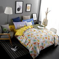 2016 New Printed Age Of Dinosaurs Homeland Bedding Sets Bed Sheet Quilt Duvet Cover Pillowcase Excellent