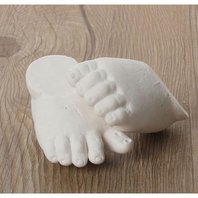 3d plaster handprints footprints diy baby hand foot casting mini kit