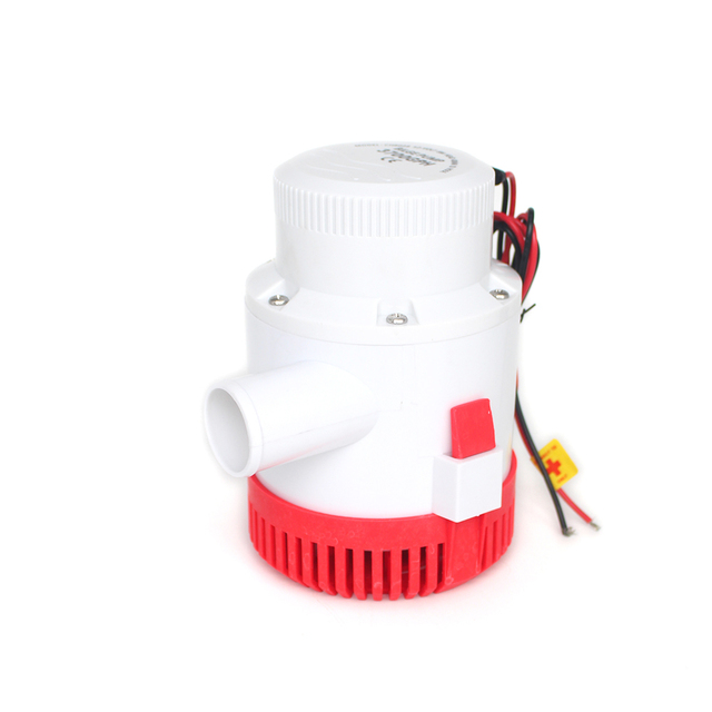 Large flow dc 12v 24v bilge pump 3500GPH electric water pump for boats accessories marin submersible boat water pump 12 24 volt