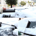 1pcs Car Ice Scoop Scraper Shovel Extendable Telescoping Winter Cleaning Removal Snow Brush Tool Vehicle Windshield