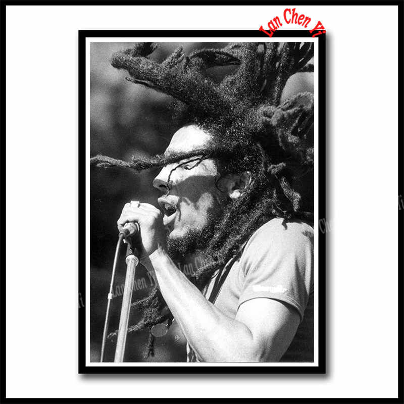 BOB Marleyโปสเตอร์เร้กเก้National Music ROCKสีขาวเคลือบกระดาษโปสเตอร์ภาพวาดสติ๊กเกอร์ติดผนัง