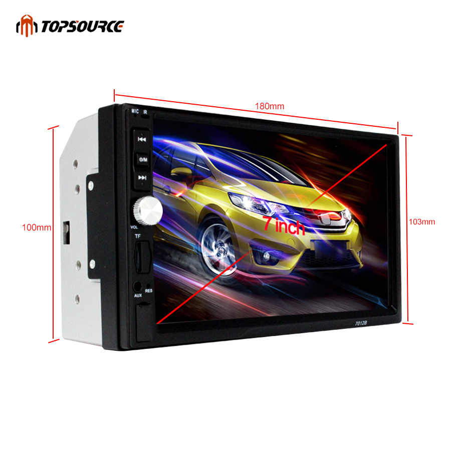 "TOPSOURCE Car Radio 7012B 7"" HD Touch Screen 2 Din Audio Stereo Bluetooth Video MP5 Multimedia Player FM Radio TF USB"