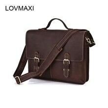 Sacs fait de véritable daim d'affaires sac homme en cuir véritable ordinateur portable sacs haut-poignée sacs à main épaule Porte-Documents 7090