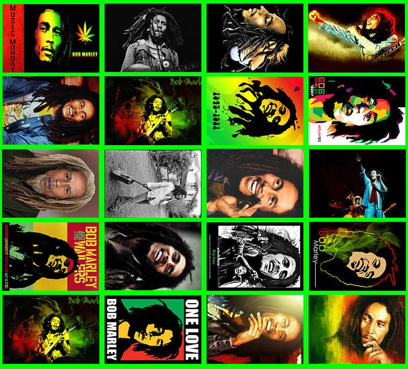 Lanchenyi Handmade Rock Band Bob Marley Classic Series 20/Pcs PVCศิลปะหัตถกรรมของขวัญออกแบบสติกเกอร์