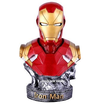 Large 36cm Cool Resin Iron Man Bust Statue EMS Shipping 14inch Toy Figure Model Avengers figurine Gift for Man Boy Marvel Toys