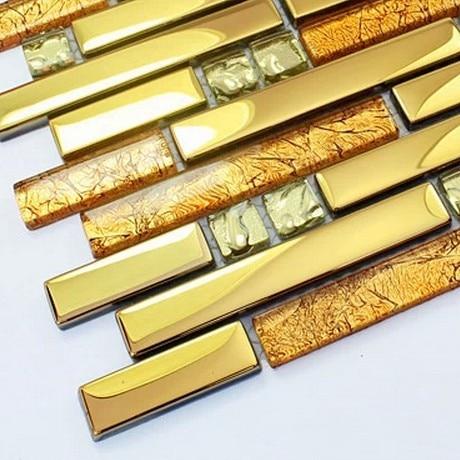 glass Golden strip