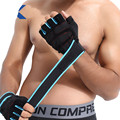 Gym Gloves Wrist Support Fitness Powerlifting Dumbbell Half Finger Glove With Wrist Bandage Antiskid Gym Accessories Wristband